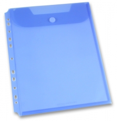 Foldermate Clear Binder Carry File - spisovka A4 - modrá