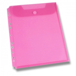 Foldermate Clear Binder Carry File - spisovka A4 - červená