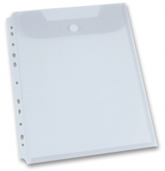 Foldermate Clear Binder Carry File - spisovka A4 - transparentní